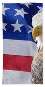 Eagle And Flag Beach Towel