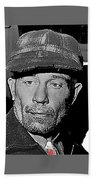 Ed Gein The Ghoul Who Inspired Psycho Plainfield Wisconsin C.1957-2013 Beach Towel