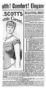 Electric Corset, 1882 Beach Towel