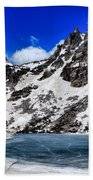 Emerald Lake In Rocky Mountain National Park Beach Towel