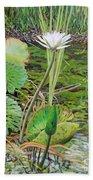 Emerald Lily Pond Beach Towel
