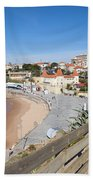 Estoril Beach In Portugal Beach Towel