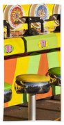 Evergreen State Fair Midway Game With Coloful Stools And Squirt  Beach Towel