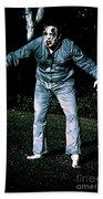 Evil Dead Horror Zombie Walking Undead In Cemetery Beach Towel