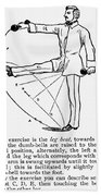 Exercise, 19th Century Beach Towel