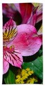 Exotic Flowers Beach Towel