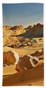 Expressive Landscape With Mountains In Egyptian Desert  Beach Towel