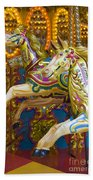 Fairground Carousel Beach Towel