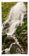 Fairy Falls In The Columbia River Gorge Area Of Oregon Beach Towel