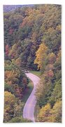 Fall Drive In The Smokies Beach Towel