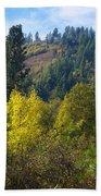 Fall In Spokane Beach Towel