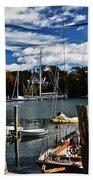 Fall In The Harbor Beach Towel