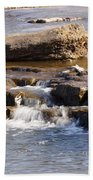 Falls Park Waterfall Beach Towel