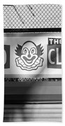 Feed The Clown In Black And White Beach Towel