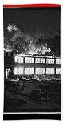 Film Homage Chris Marker La Jetee 1962 Winter Fire Collage Aberdeen South Dakota 1965-2013 Beach Towel