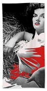 Film Homage Jane Russell The Outlaw 1943 Publicity Photo Photographer George Hurrell 2012 Beach Towel