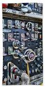 Fireman Control Panel Beach Sheet