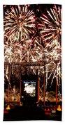 Fireworks At Kauffman Stadium Beach Towel