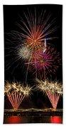 Fireworks  Beach Towel by Saija  Lehtonen