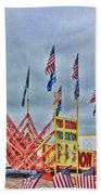 Fireworks Stand Beach Towel by Cathy Anderson