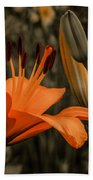 First To Bloom Beach Towel