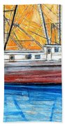 Fishing Trawler Beach Towel