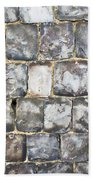 Flint Stone Wall Beach Towel