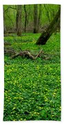 Floral Forest Floor Beach Towel