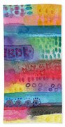 Flower Garden Beach Towel by Linda Woods