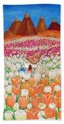 Flowers And Fields Alive With Thy Joy Beach Towel