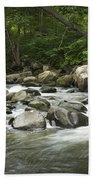 Flowing Stream In Vermont Beach Towel