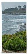 Foggy Coast Beach Towel