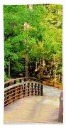 Folsom Bridge At Furnace Creek Beach Towel