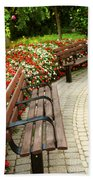 Formal Garden Beach Towel