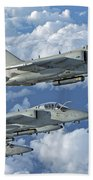 Formation Of Italian Air Force Amx-acol Beach Towel