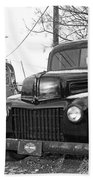 Forties Ford Pickup Beach Towel