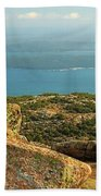 Frenchman's Bay From Cadillac Mountain Beach Towel