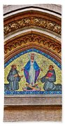 Fresco In Front Of Saint Anthony's Church In Istanbul-turkey  Beach Towel