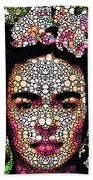 Frida Kahlo Art - Define Beauty Beach Towel