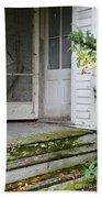 Front Door Of Abandoned House Beach Sheet