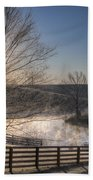 Frosty Sunrise Beach Towel