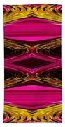 Fuchsia Sensation Zigzags Beach Towel