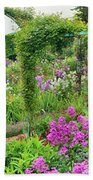 Garden Of Claude Monets House, Giverny Beach Towel