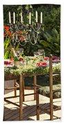 Garden Table Setting Beach Towel