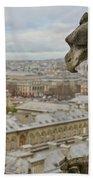 Gargoyle Overlooking Paris Beach Towel