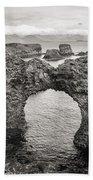 Gatklettur Arch In Hellnar Beach Towel