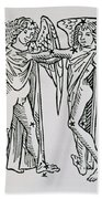 Gemini An Illustration Beach Towel