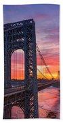 George Washington Bridge Beach Towel