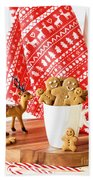 Gingerbread At Christmas Beach Towel