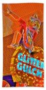 Glitter Gulch  Beach Towel